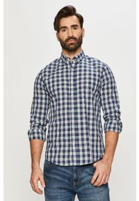 Niebieska koszula Tom Tailor długa, casualowa, na co dzień, button down