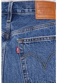 Levi's® - Levi's - Spódnica jeansowa. Okazja: na co dzień, na spotkanie biznesowe. Kolor: niebieski. Materiał: jeans. Styl: biznesowy, casual