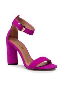 Różowe sandały R.Polański klasyczne