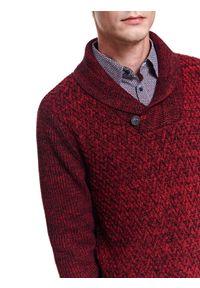 Czerwony sweter TOP SECRET elegancki, na jesień