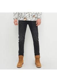 House - Jeansy slim fit z bawełny organicznej - Czarny. Kolor: czarny #1