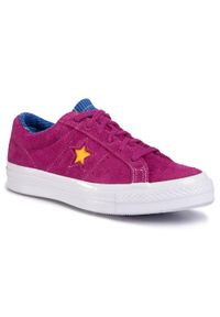 Fioletowe buty sportowe Converse z cholewką