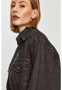 Answear Lab - Kurtka jeansowa. Kolor: szary. Materiał: jeans. Styl: wakacyjny