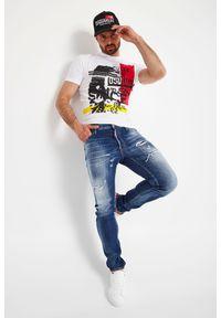 T-shirt DSQUARED2 krótki, z krótkim rękawem, z nadrukiem
