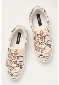 DKNY - Dkny - Tenisówki. Nosek buta: okrągły. Kolor: beżowy. Materiał: guma