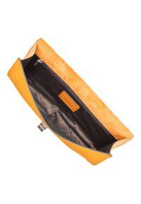 Wittchen - Kopertówka skórzana z metalowym zapięciem. Kolor: żółty. Materiał: skórzane. Rozmiar: małe. Styl: klasyczny, elegancki, casual