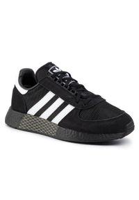 Czarne półbuty Adidas z cholewką, na co dzień, eleganckie