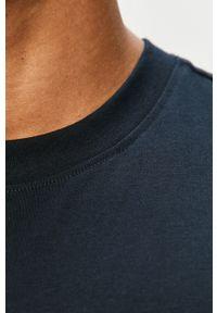 Niebieski t-shirt Premium by Jack&Jones na co dzień, casualowy, gładki