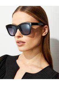 Tom Ford - TOM FORD - Czarne okulary przeciwsłoneczne Haley. Kolor: czarny