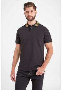 Koszulka polo Versace Jeans Couture polo, sportowa, w jednolite wzory