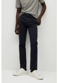 Mango Man - Spodnie Barna. Kolor: niebieski
