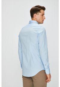 TOMMY HILFIGER - Tommy Hilfiger - Koszula Stretch Poplin. Typ kołnierza: button down. Kolor: niebieski. Materiał: tkanina