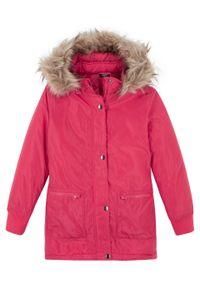 Czerwony płaszcz bonprix casualowy, na co dzień