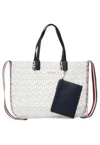 Biała torebka klasyczna TOMMY HILFIGER klasyczna