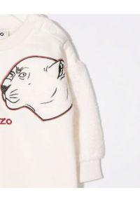 Kenzo kids - KENZO KIDS - Sukienka z haftowanym tygrysem 0-2 lat. Kolor: beżowy. Materiał: materiał. Wzór: haft. Sezon: lato