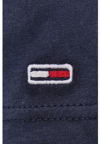 Tommy Jeans - T-shirt bawełniany. Okazja: na co dzień. Kolor: niebieski. Materiał: bawełna. Wzór: nadruk. Styl: casual