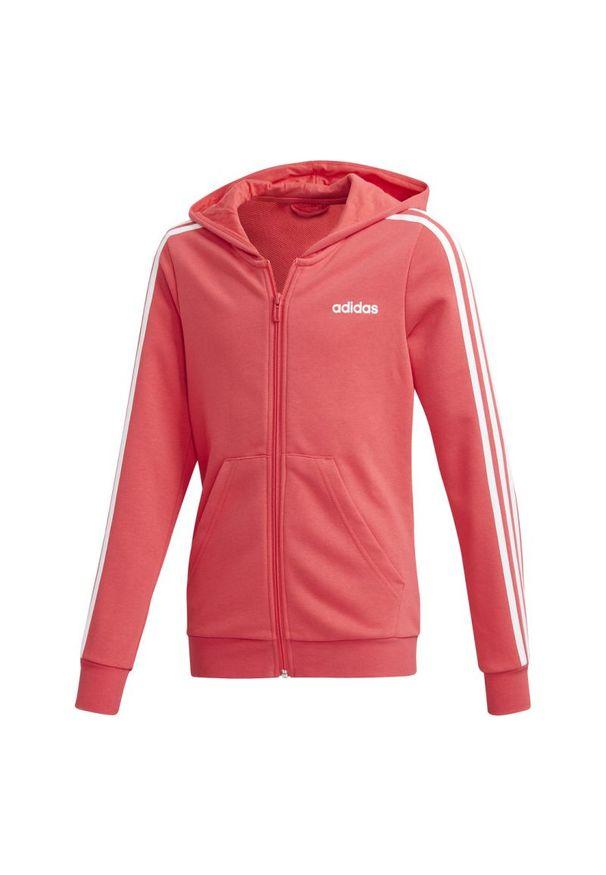 Bluza Adidas sportowa, z kontrastowym kołnierzykiem, długa, z długim rękawem