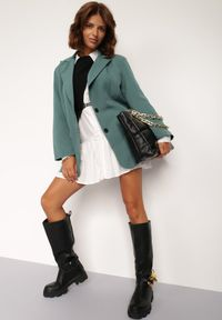Renee - Zielona Marynarka Alemeina. Okazja: na spotkanie biznesowe. Kolor: zielony. Styl: wizytowy, biznesowy #4