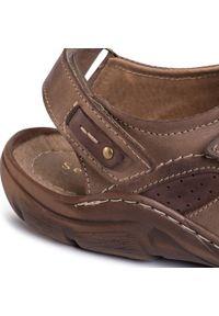 Brązowe sandały Sergio Bardi klasyczne, na lato