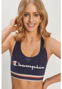 Niebieski biustonosz sportowy Champion z odpinanymi ramiączkami, z nadrukiem
