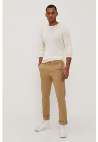 Only & Sons - Sweter. Okazja: na co dzień. Kolor: beżowy. Materiał: dzianina. Styl: casual
