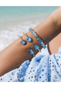 CAROLINE SVEDBOM - Bransoletka Ocean Blue Delite. Materiał: złote. Kolor: niebieski. Kamień szlachetny: kryształ