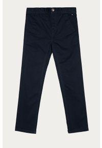Niebieskie spodnie TOMMY HILFIGER gładkie
