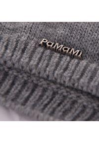 Czapka damska PaMaMi - Jasnoszary. Kolor: szary. Materiał: poliamid, akryl. Sezon: wiosna, jesień. Styl: klasyczny