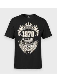 MegaKoszulki - Koszulka męska Urodziny + Twój miesiąc, rok, wiek. Okazja: na urodziny. Materiał: bawełna