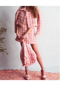 LOVE SHACK FANCY - Różowy plecak Kiwi. Kolor: różowy, wielokolorowy, fioletowy. Materiał: poliester, wełna, akryl