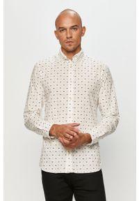 Biała koszula PRODUKT by Jack & Jones z długim rękawem, długa