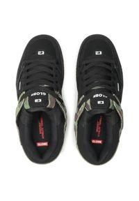 Globe - Sneakersy GLOBE - Fusion Black/Green Camo. Okazja: na co dzień. Kolor: czarny. Materiał: skóra ekologiczna, skóra, zamsz. Szerokość cholewki: normalna. Styl: sportowy, casual