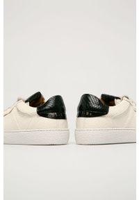 Białe sneakersy AllSaints na sznurówki, z okrągłym noskiem