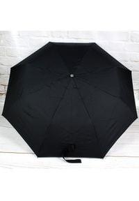 DOPPLER PA70 czarny parasol składany półautomatyczny. Kolor: czarny. Materiał: materiał