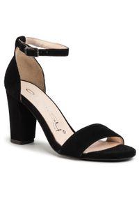 Czarne sandały Oleksy casualowe, na co dzień