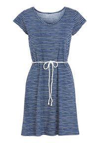 Niebieska tunika plażowa Cellbes krótka, w paski