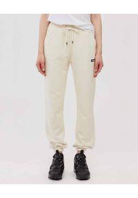 Mackage - MACKAGE - Kremowe spodnie dresowe Presley. Kolor: beżowy. Materiał: dresówka. Długość: długie