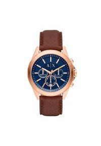 Brązowy zegarek Armani Exchange