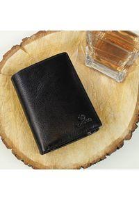 Krenig - Portfel skórzany męski KRENIG Classic 12028 czarny. Kolor: czarny. Materiał: skóra