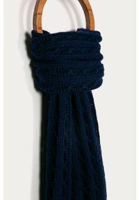 Niebieski szalik Stefanel klasyczny