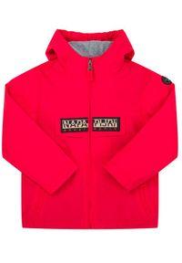 Czerwona kurtka przeciwdeszczowa Napapijri