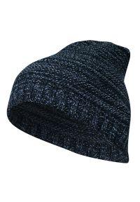 Niebieska czapka Just Yuppi melanż, na zimę