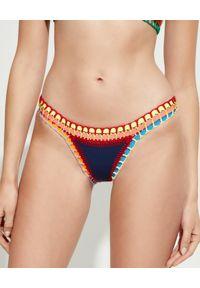KIINI - Dół od bikini Tasmin. Kolor: niebieski. Materiał: poliester, materiał, bawełna. Wzór: kolorowy