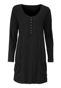 Cellbes Tunika Czarny female czarny 34/36. Kolor: czarny. Materiał: jersey. Długość rękawa: długi rękaw. Długość: długie. Wzór: melanż