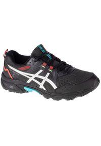 Czarne buty do biegania Asics z cholewką, w kolorowe wzory #1