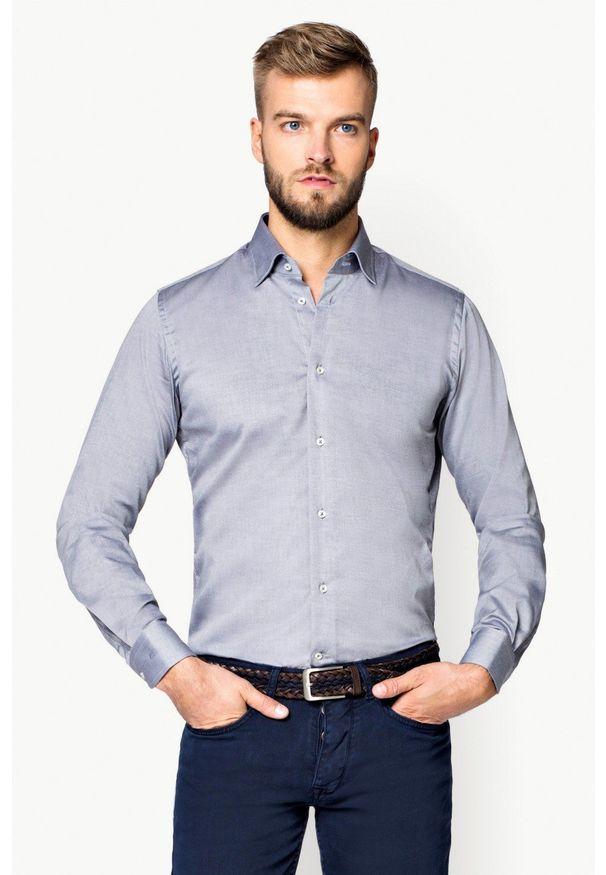 Szara koszula Lancerto wizytowa, na spotkanie biznesowe