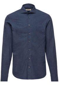 Baldessarini Koszula 41232/000/4966 Granatowy Regular Fit. Kolor: niebieski