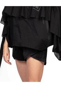 ROBERT KUPISZ - Czarne szorty ORIENT SILK. Kolor: czarny. Materiał: jedwab. Wzór: nadruk. Styl: klasyczny