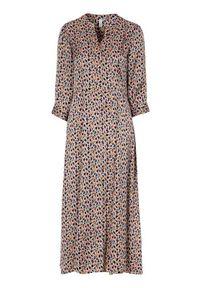 Beżowa sukienka Soyaconcept elegancka, maxi