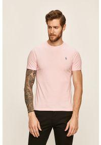 Polo Ralph Lauren - T-shirt. Typ kołnierza: polo. Kolor: różowy. Materiał: dzianina